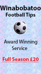 Winabobatoo Football Tips - Award Winning Service